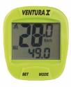 Cyklocomputer VENTURA 10 funkcí zelený