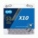 ŘETĚZ KMC X10 ŠEDÝ BOX