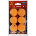 Míčky pro stolní tenis Giant Dragon ORG PI PO MICKY 6PCS oranžové