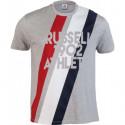Pánské tričko Russell Athletic STRIPE 1902 S/S CREWNECK TEE SHIRT šedé